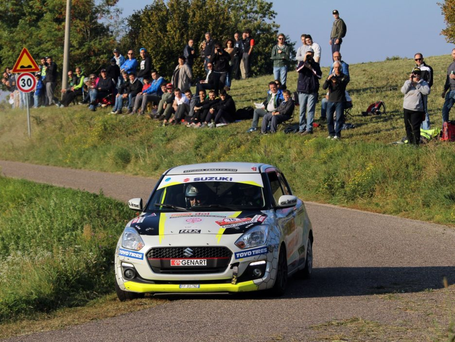 Simone Goldoni, Flavio Garella (Suzuki Swift #76, Winners Rally Team)
