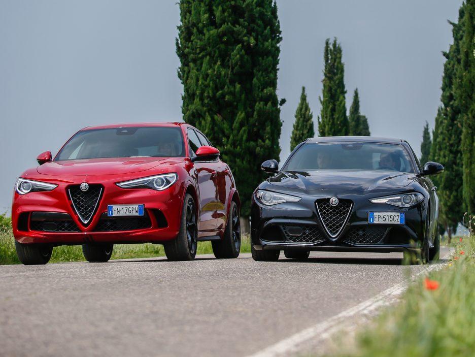 Alfa Romeo Stelvio e Giulia Quadrigloglio strade stellate 6
