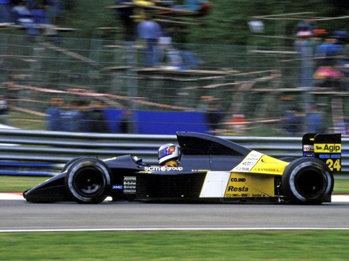 Giani Morbidelli driving a Minardi M191.