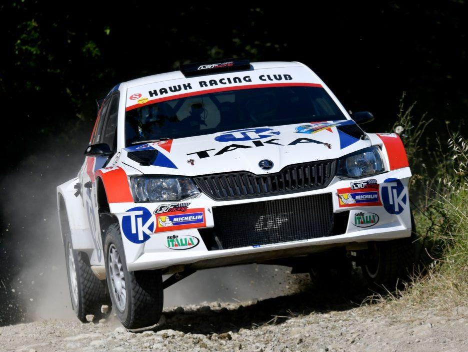 Giacomo Costenaro, Justin Bardini (Skoda Fabia R5 #9, Hawk Racing Club)