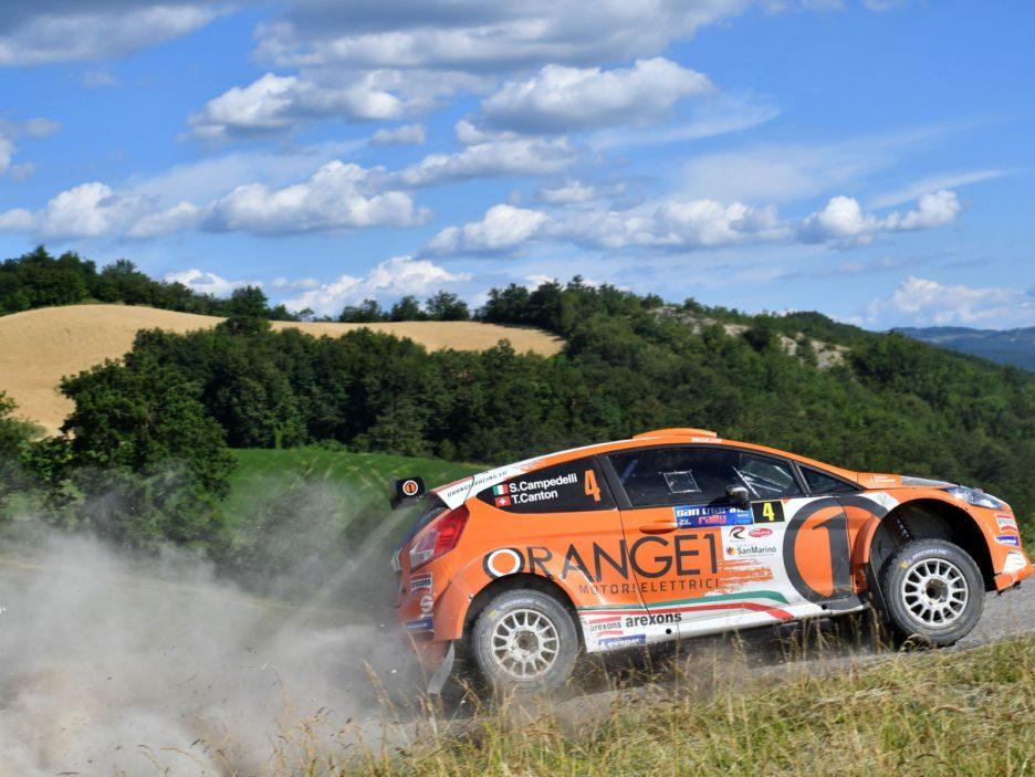 Simone Campedelli, Tania Canton (Ford Fiesta R5 #4, Orange1 Racing)