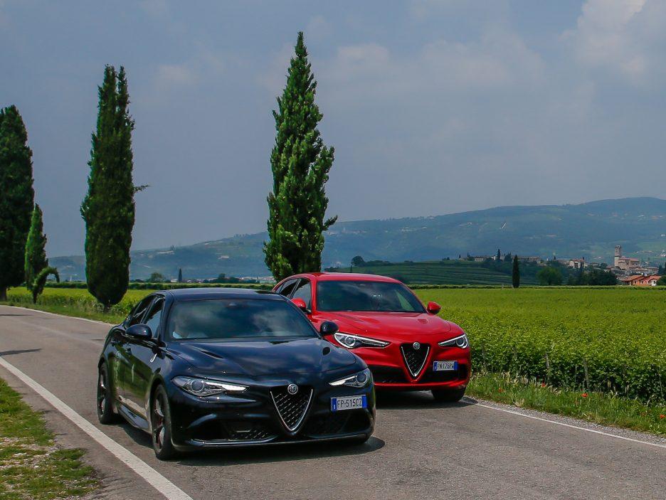 Alfa Romeo Stelvio Quadrifoglio E Giulia Quadrifoglio La