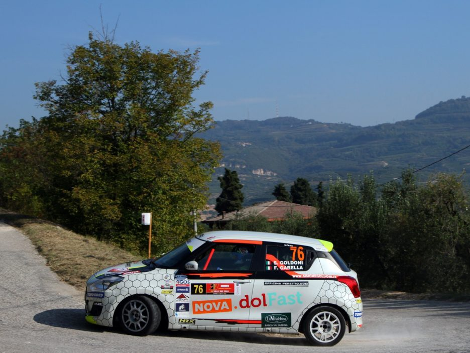Simone Goldoni, Flavio Garella (Suzuki Swift #76, Winner Rally Team )