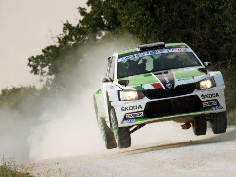 Umberto Scandola, Guido D Amore (Skoda Fabia R5 #2, Daytona Race)