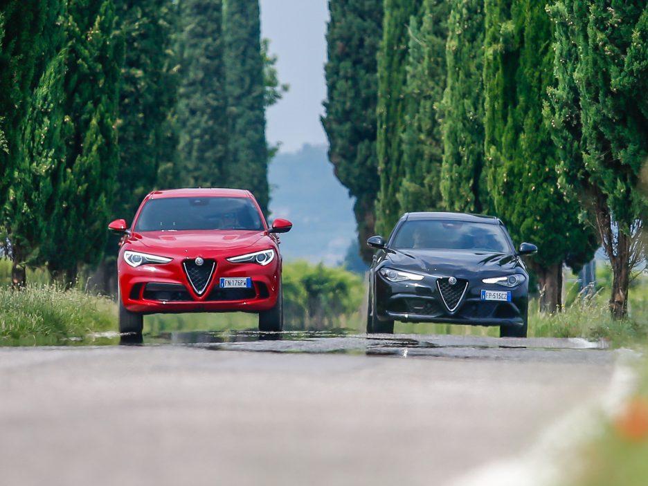 Alfa Romeo Stelvio e Giulia Quadrigloglio strade stellate 5