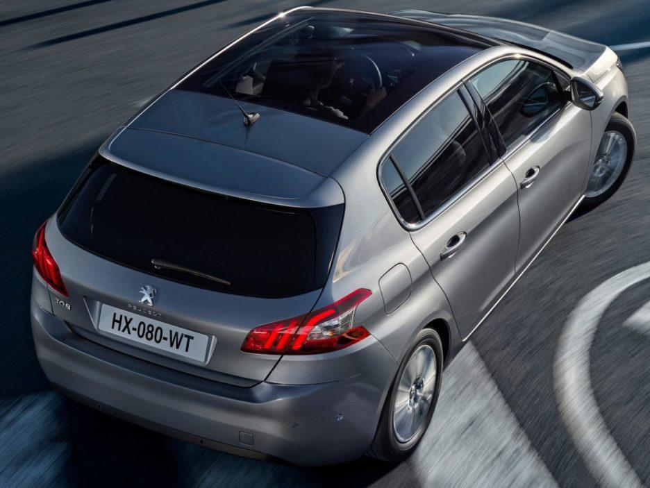 Peugeot 308 vista dall'alto
