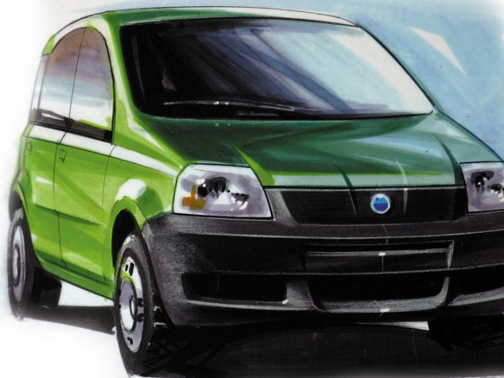 Fiat Panda seconda generazione design