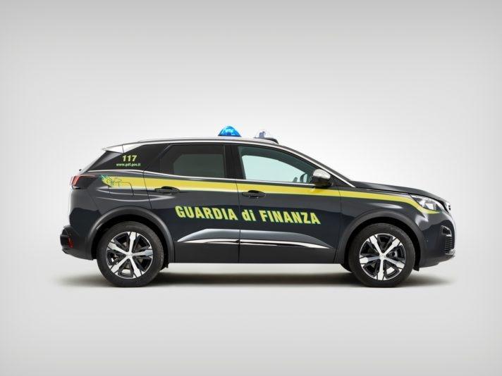 Peugeot 3008 Guardia di Finanza profilo