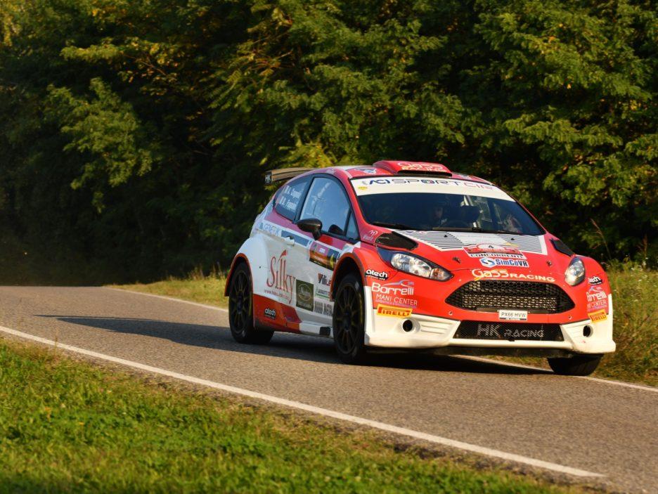 Andrea Crugnola, Danilo Fappani (Ford Fiesta R5 #4, Gass Racing)