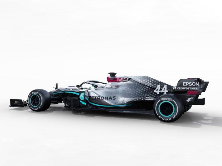 Mercedes F1 W11 EQ Power + tre quarti posteriore
