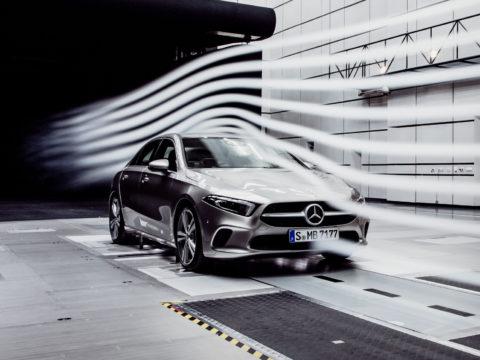Weltrekord verteidigt: Die neue A-Klasse Limousine: Aerodynamischer ist keiner