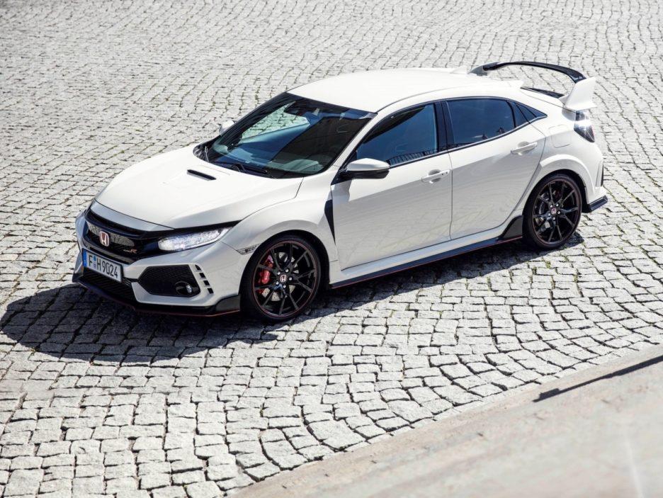 Honda Civic Type-R vista dall'alto