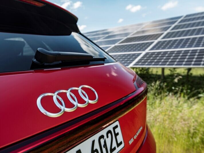 ARTIS-Uli Deck// 18.06.2020 EnBW, Audi e-tron im EnBW Solarpark Berghuelen