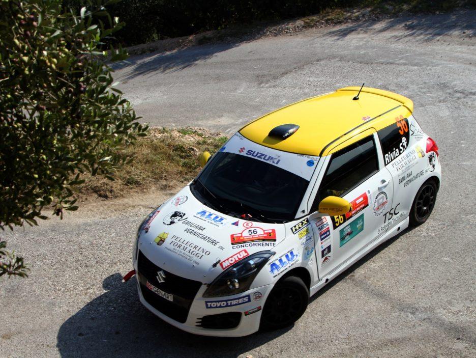 Simone Rivia, Luca Guglielmetti (Suzuki Swift #56, Versilia Rally Team)