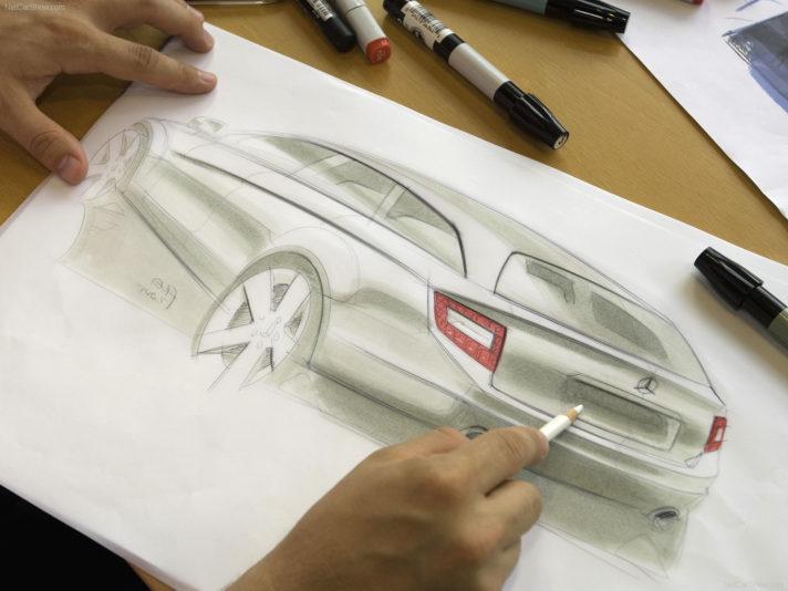 Mercedes classe C SW terza generazione design schizzo